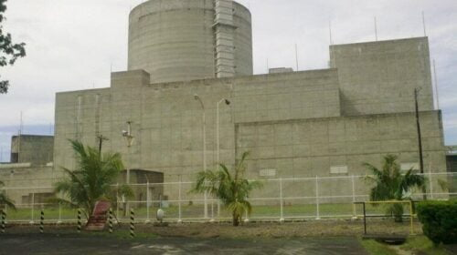 The Philippine nuclear power plant in Bataan.