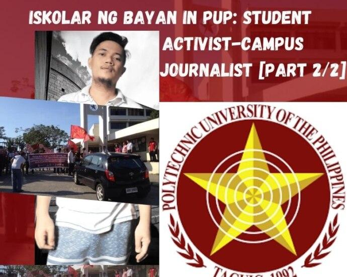 Iskolar ng bayan in PUP Taguig: Student activist-campus journalist