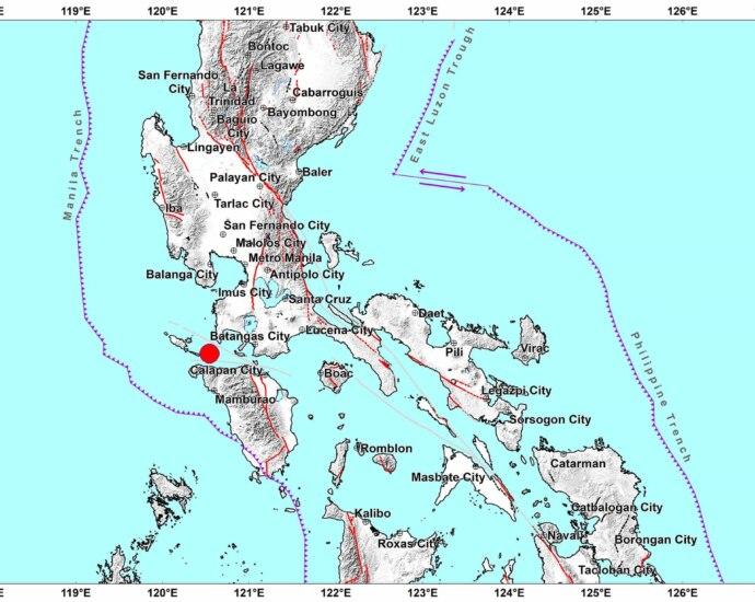6.6, 5.1 earthquakes in Batangas; no tsunami warning